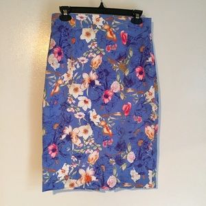 ZARA Floral Pencil Skirt